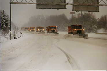 Expressway Snow Plowing
